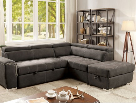 LORNA Sectional Bed W/ Ottoman ...