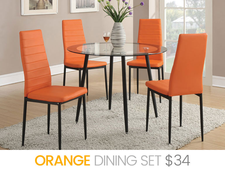 RENT   ORANGE Dining Set